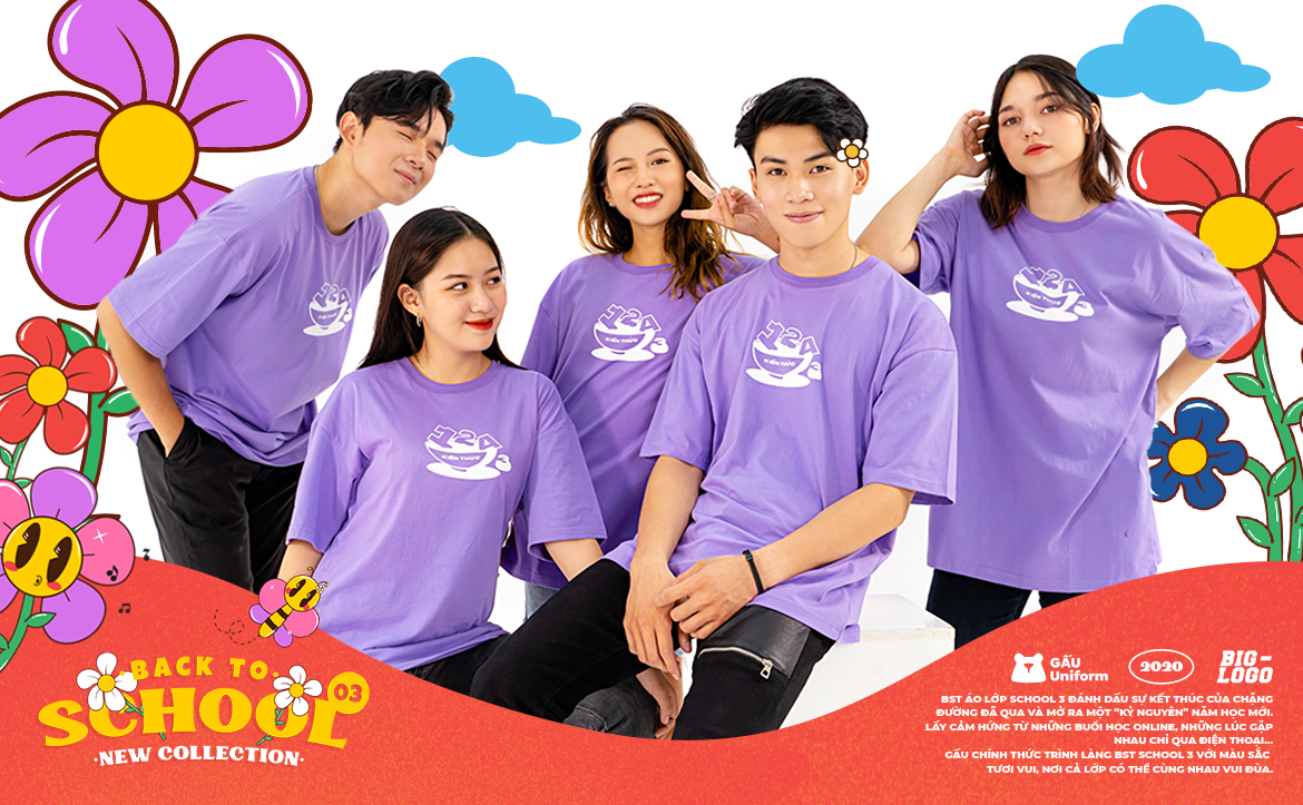 BST ÁO LỚP SCHOOL 3 - HAVE FUN WITH GẤU UNIFORM