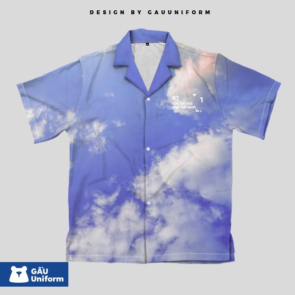 Áo Lớp Sơ Mi Mây Trời - SM216