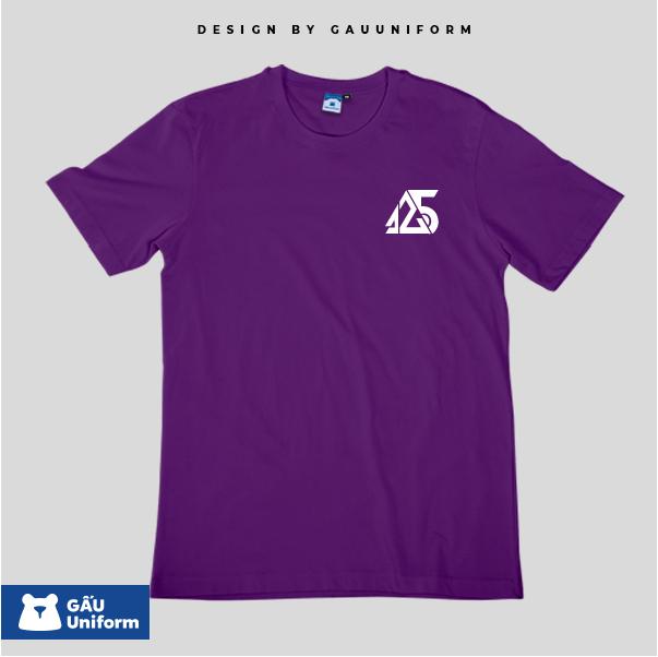 Áo Lớp T-Shirt Unisex Tím Đậm