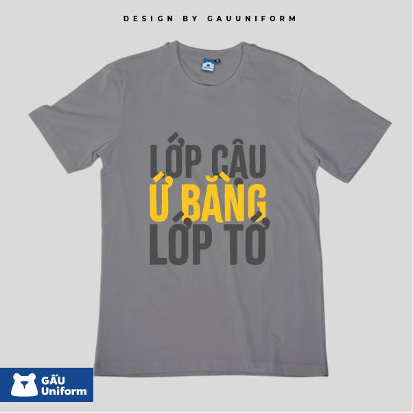 Áo Lớp T-Shirt Unisex Xám Trung