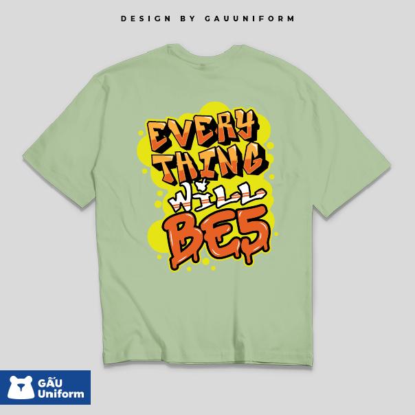 Áo Lớp T-Shirt Oversized Xanh Lá Mầm